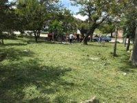 Sungurlu'da mezarlıklar bakıma alındı