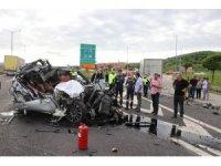 Bolu'da 1 kişinin öldüğü feci kaza kameralara yansıdı