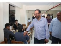 Bakan Kasapoğlu, iftarını KYK yurdunda açtı