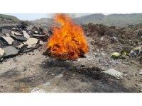 Van'da, kaçak avcıların, kafesleri yakılarak imha edildi