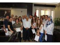 Kaymakam'dan Nüfus Müdürlüğü personeline başarı belgesi