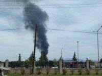 Turşu fabrikasının bahçesinde çıkan yangın korkuttu
