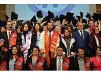 KMÜ Sağlık Hizmetleri MYO'da mezuniyet sevinci