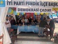 İYİ Parti'nin 'Demokrasi Çadırı'na engel