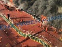 Umman Denizi'ndeki tankerlerin patlama anı böyle görüntülendi