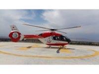 Yaralı işçi helikopter ambulansla hastaneye yetiştirildi