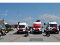 Yalova'ya motosiklet ambulans gönderildi