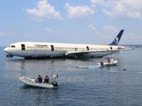 Dev yolcu uçağı Saroz Körfezine batırıldı