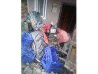 Freni boşalan traktör 2 yaşındaki çocuğa çarptı