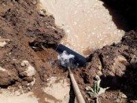 Zarar verilen içme suyu hattı tamir edildi