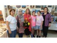 Burhaniye'de kadınların eserleri ilgi gördü
