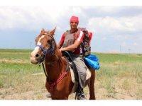 Askerlik görevi için at sırtında yola çıktı, 24 kilometre mesafe yaparak Yozgat'a ulaştı