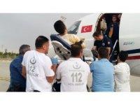 3.derecede yanığı olan hasta ambulans uçakla İzmir'e nakledildi