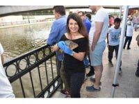 Vatandaşlar balık tutmanın keyfini yaşadı