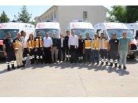 Şanlıurfa'da 8 yeni ambulans hizmete girdi