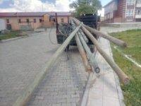 Kars'ta kablo ve direk hırsızlığı