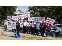 Söke Ovası Sulama Birliği'nde işten çıkarılan işçiler eylem başlattı