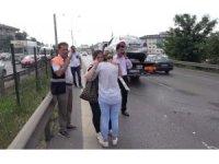 E-5'te kadın sürücüyü gözyaşlarına boğan zincirleme kaza