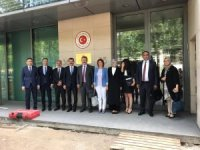 Başkan Dr. Mustafa Palancıoğlu AB Türkiye Cumhuriyeti Daimi Temsilcisi Büyükelçi Mehmet Kemal Bozay ile görüştü