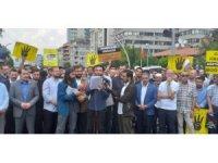 Mısır Büyükelçiliği önünde gıyabi cenaze namazı kılındı