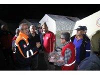 Kayseri'de çadırları sular altında kalan vatandaşların imdadına AFAD ve Kızılay yetişti