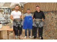 Sökeli Başpehlivan ve oğullarına Didim Belediyespor'dan destek