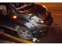 Aracın çaptığı yaya ağır yaralandı