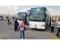 İstanbul seçimi için Konya'dan otobüslerle yola çıktılar