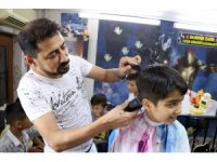Kur'an-ı Kerim öğrenen çocuklara ücretsiz tıraş