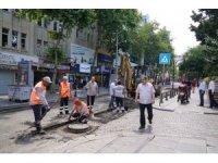 Çorlu Omurtak Caddesi'nde bakım ve onarım çalışması yapıldı