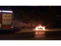 Motosikleti arıza yapınca sinirlenip ateşe verdi, oturarak yanışını seyretti