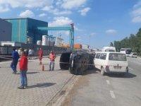 Tersaneler bölgesinde kaza: 2 yaralı