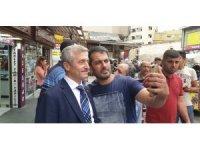 Başkan Tahmazoğlu esnafı ziyaret etti