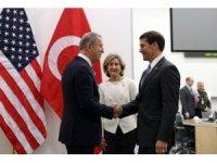 Bakan Akar, ABD Savunma Bakanı Vekili Esper ile görüştü