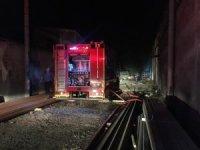 Bursa'da korkutan fabrika yangını