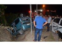 Bafra'da kaza:4 yaralı