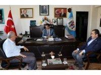 İHA Genel Müdürü Hamit Arvas'tan Başkan Aksun'a ziyaret