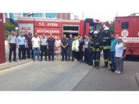 Aydın Kadın Doğum Hastanesi'nde yangın tatbikatı