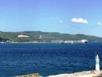 58 metre ve 15 ton ağırlığındaki rüzgar türbini kanatları 262 metrelik gemiyle taşındı