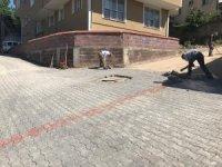 Beton parke yol düzenleme çalışması başladı
