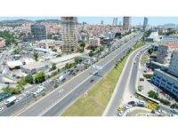 Avrasya Tüneli'nde oluşan trafik yoğunluğu havadan görüntülendi