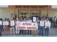 Aydın Tabip Odası, şiddet mağduru Dr. Orhan Bayır'e destek için Söke'ye çıkarma yaptı