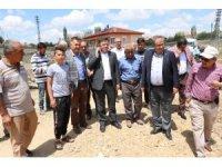 Milletvekili Başer, sel ve doludan zarar gören köylerde incelemelerde bulundu