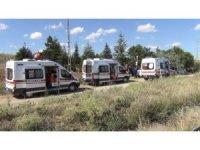 Kırıkkale'de trafik kazası: 2'si çocuk 6 yaralı