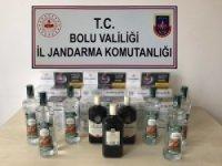 Bolu'da kaçak sigara, içki ve uyuşturucu operasyonu