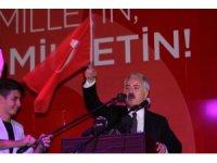 """Validen 'Bayrak' vurgulu 15 Temmuz konuşması: """"Çünkü bizler buradayız, buradayız, buradayız"""""""