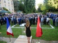 Paris Türkiye'nin Paris Büyükelçiliği'nde 15 Temmuz anma töreni