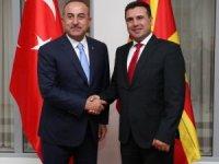 Çavuşoğlu, Kuzey Makedonya Başbakanı Zaev tarafından kabul edildi