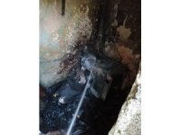 Hatay'da bir eve ait depoda yangın