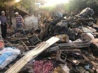 Evi yanan Yorulmaz ailesine devlet desteği